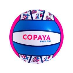 Ballon de beach volley BV100 Fun rose fluo