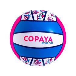 Bola de Voleibol de Praia BV100 Fun rosa fluorescente