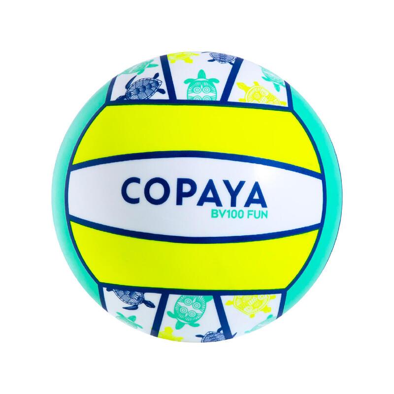 Bola de Voleibol de Praia BV100 Fun Amarelo Fluorescente
