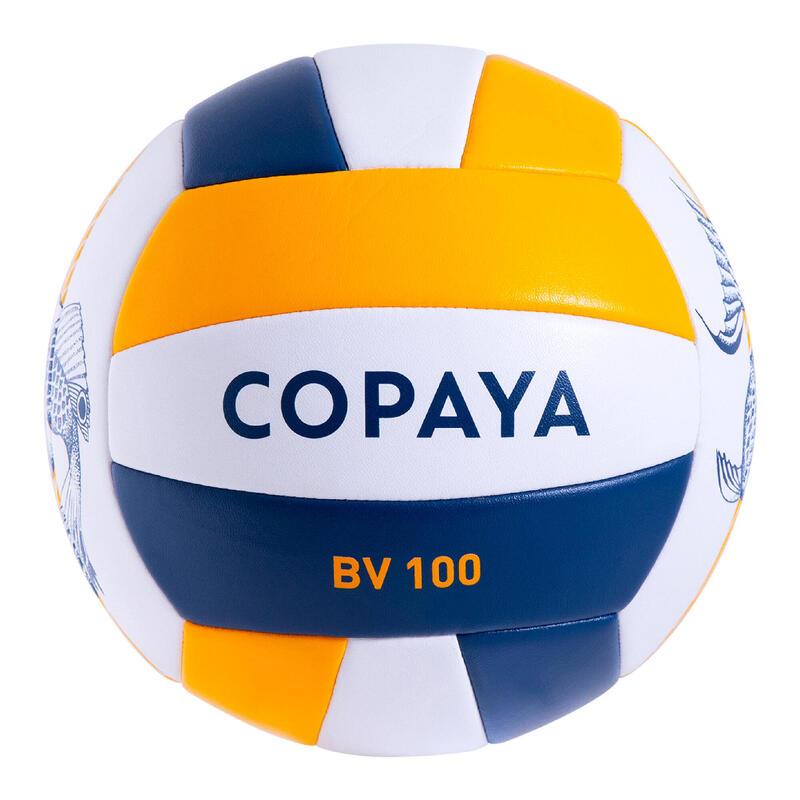 Ballon de beach volley BVBS100 bleu et jaune