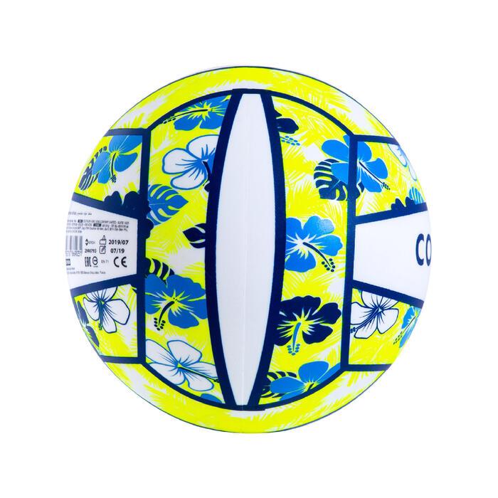 Ballon de beach volley BV100 Fun bleu et jaune