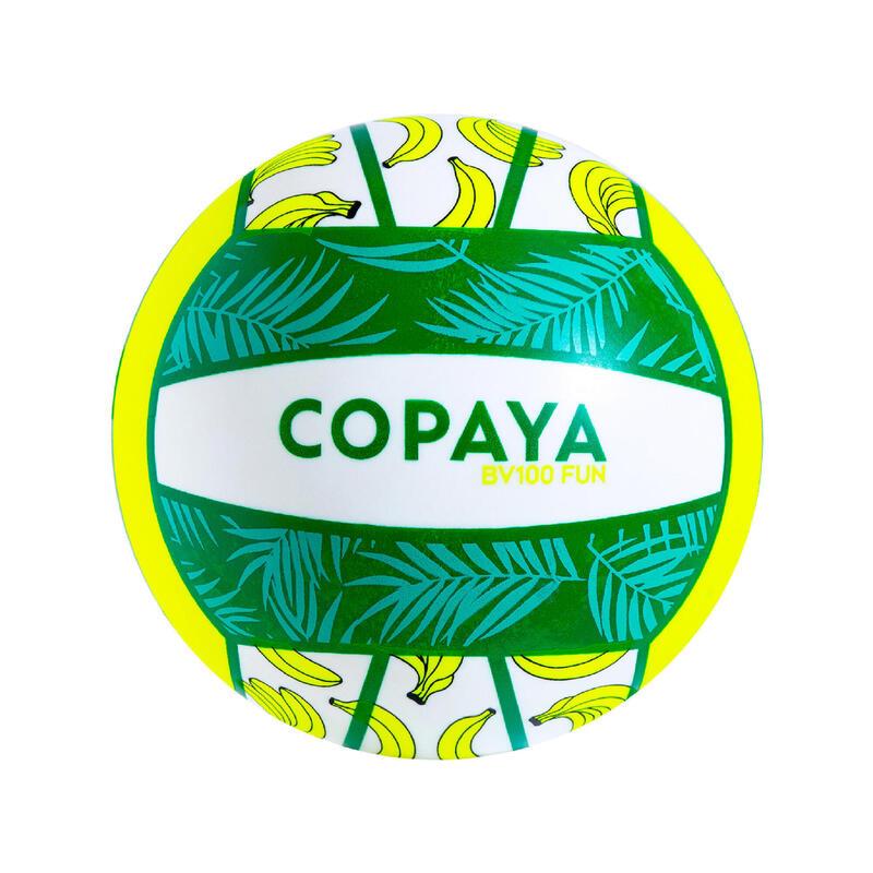 Bola de Voleibol de Praia BV100 Fun verde fluorescente