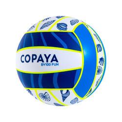 Ballon de beach volley BV100 Fun bleu