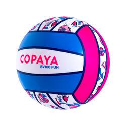 Ballon de beach volley BV100 Fun rose fluo