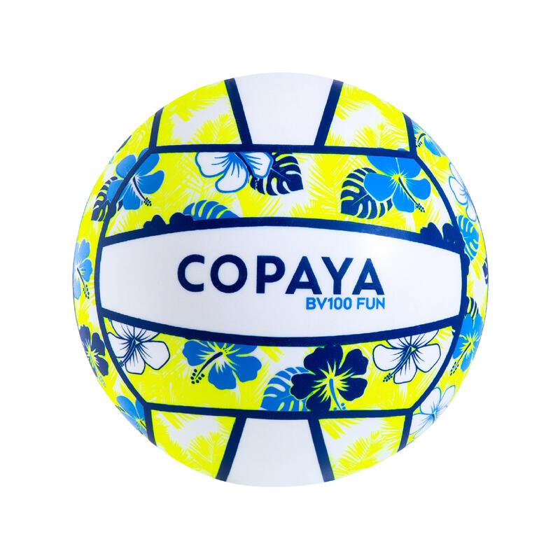Bola de Voleibol de Praia BV100 Fun Azul e Amarelo