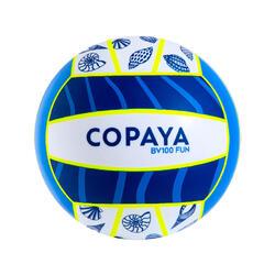 Bola de Voleibol de Praia BV100 Fun Azul