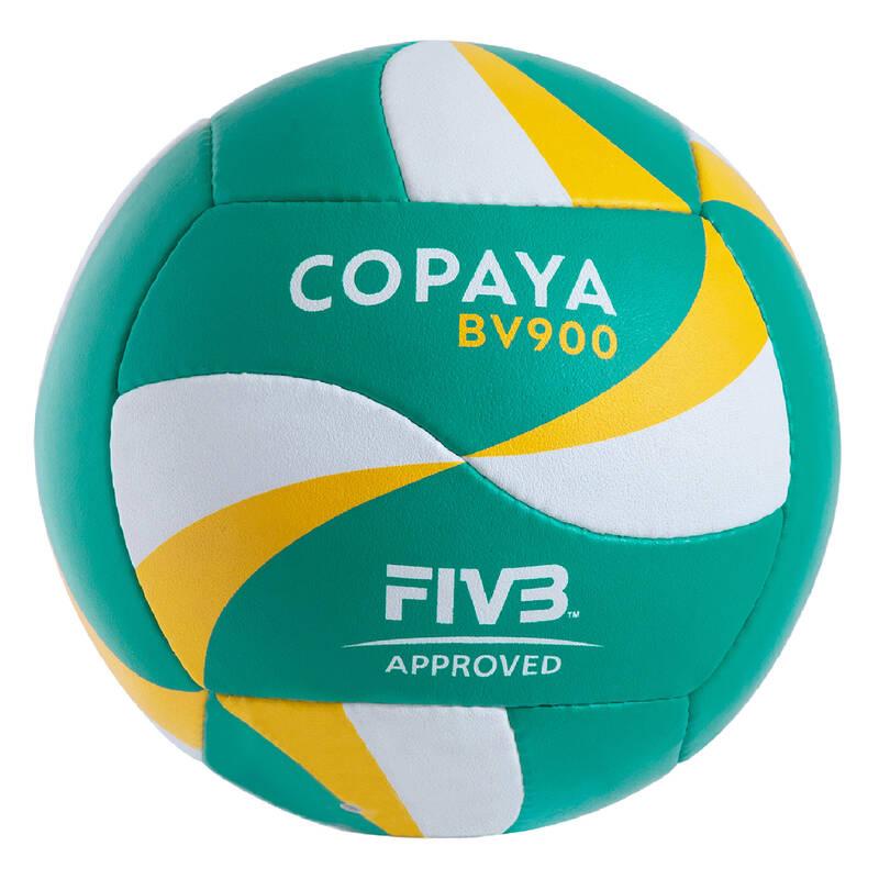 PLÁŽOVÝ VOLEJBAL Beach volejbal - MÍČ BVB 900 ZELENO-ŽLUTÝ COPAYA - Míče a doplňky k míčům