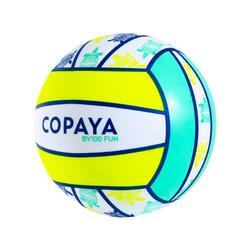 Ballon de beach volley BV100 Fun jaune fluo
