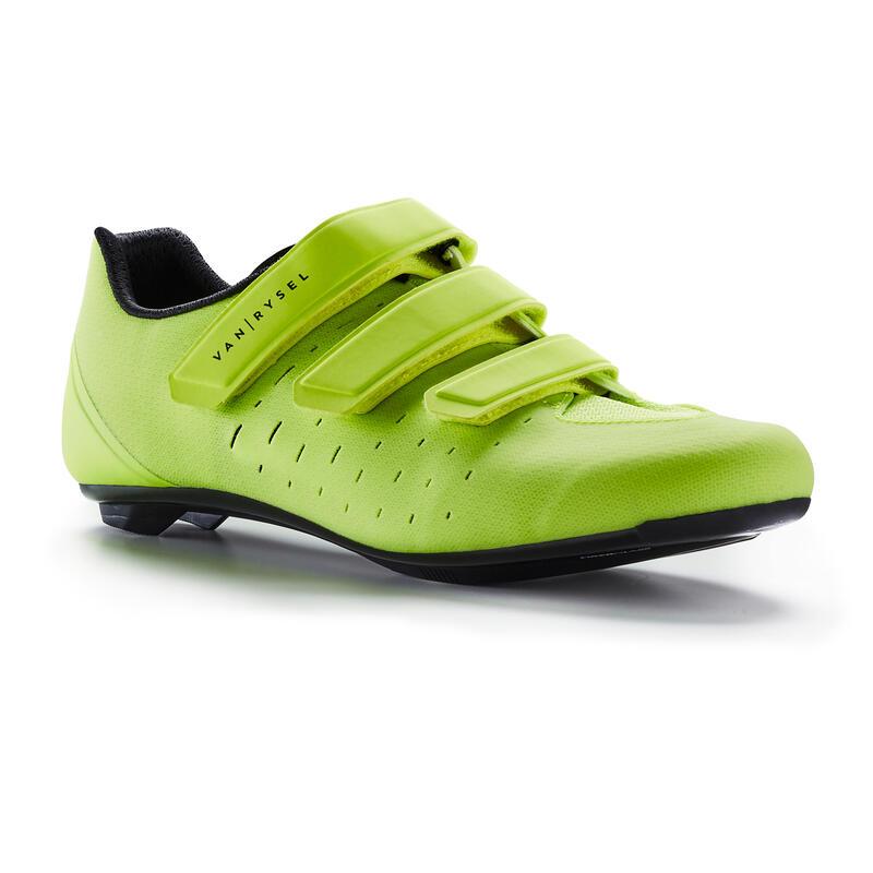 Chaussures de vélo cyclo-sport VAN RYSEL ROADR 100 JAUNE