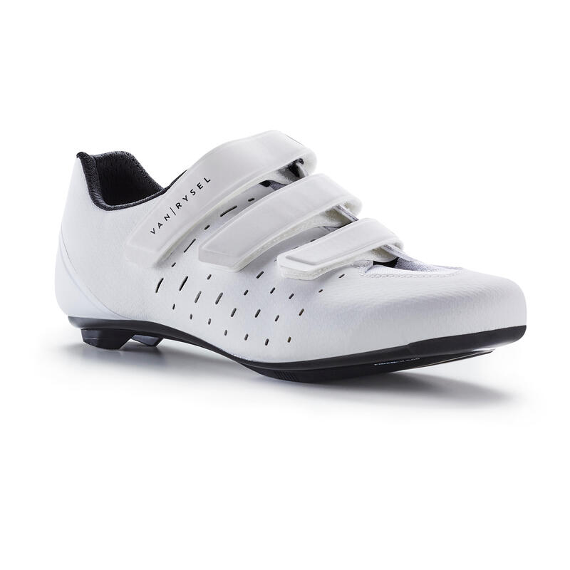 Chaussures de vélo cyclo-sport VAN RYSEL ROADR 100 BLANCHE
