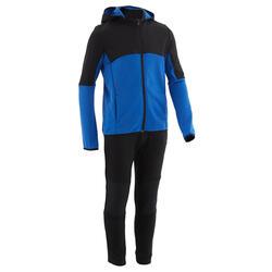 Warm en ademend trainingspak voor kinderen S500 zwart/blauw