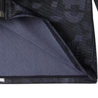 חליפת טרנינג סינתטית ומחממת להתעמלות דגם S500 לבנים - שחור עם הדפס