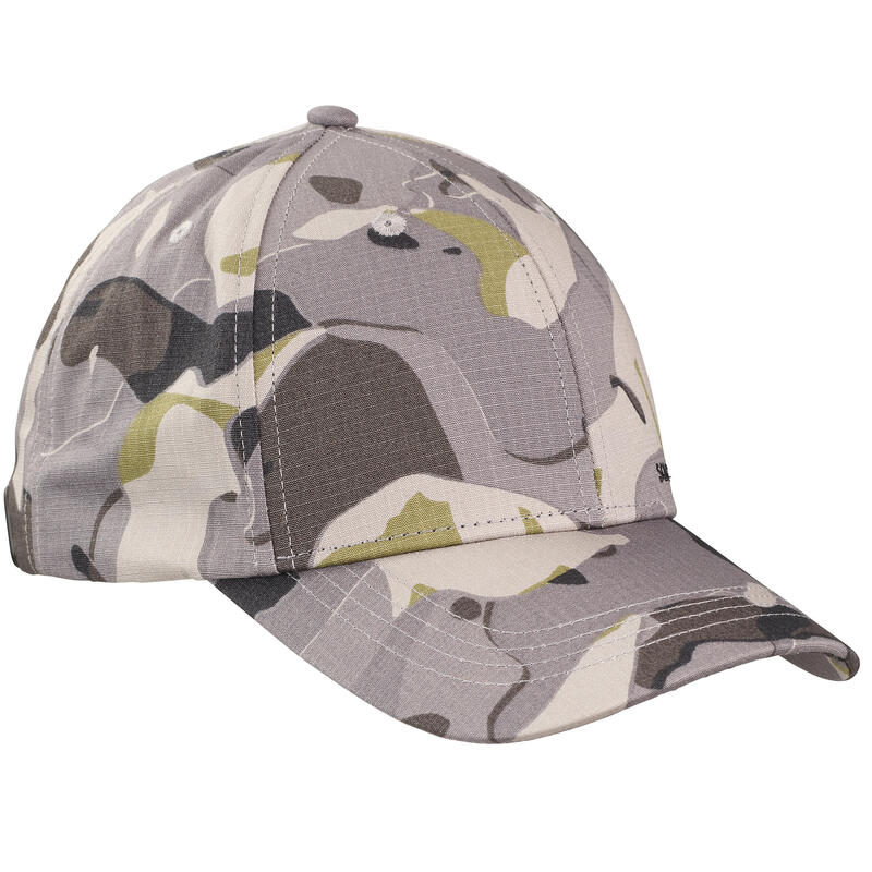 Durable hunting cap 500 - Woodland Camo Grey