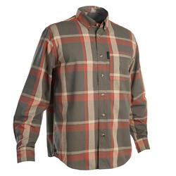 Camicia caccia 100 LTD verde-rosso