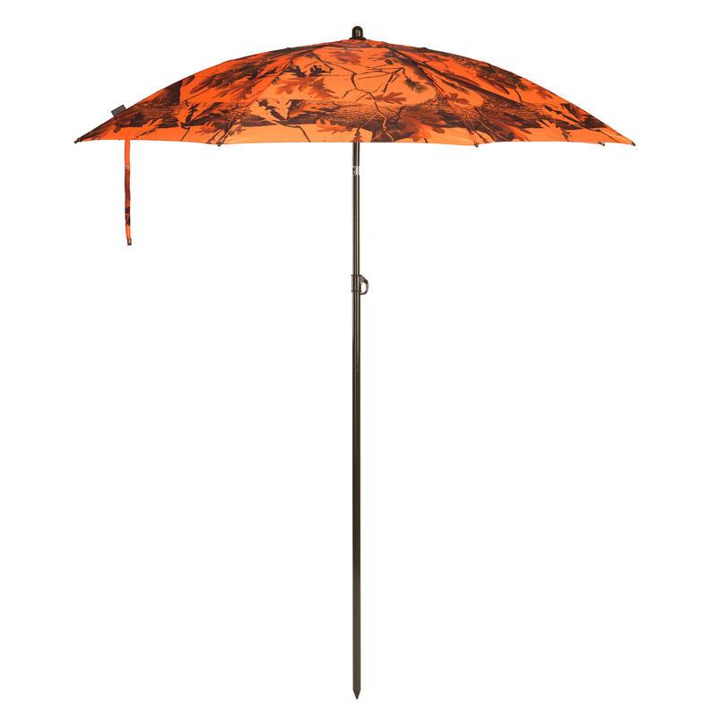Parapluie chasse camouflage orange