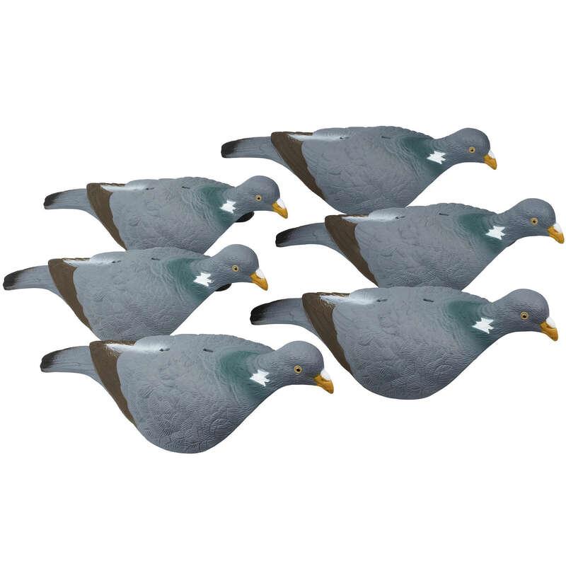 UTRUSTNING FÖR JAKT AV DUVA/KRÅKA/TRAST Ekoprodukter - Kit med 6 st lockfåglar 100 SOLOGNAC - Ekoprodukter