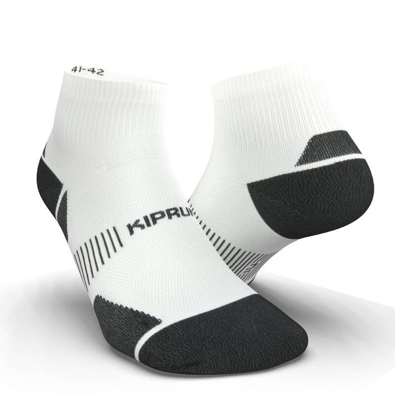 BĚŽECKÉ PONOŽKY DOSPĚLÍ Atletika - PONOŽKY RUN900 BÍLÉ  KIPRUN - Atletické boty a tretry