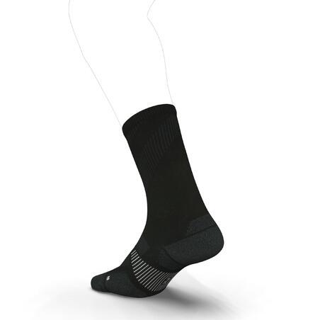 ECO-DESIGN RUN900 MID-CALF FINE RUNNING SOCKS - BLACK