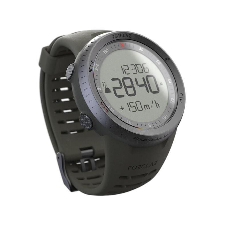 Horloge met hoogtemeter barometer kompas MW TREK 900 kaki