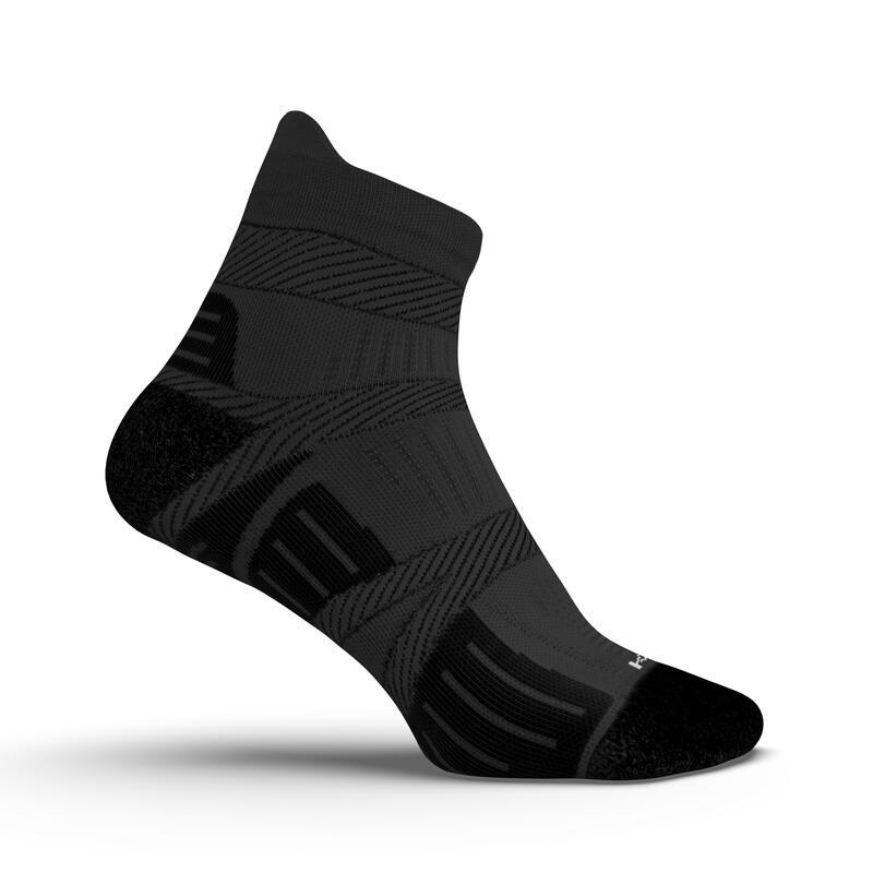 ถุงเท้ารัดข้อเนื้อละเอียดสำหรับใส่วิ่ง (สีดำ)