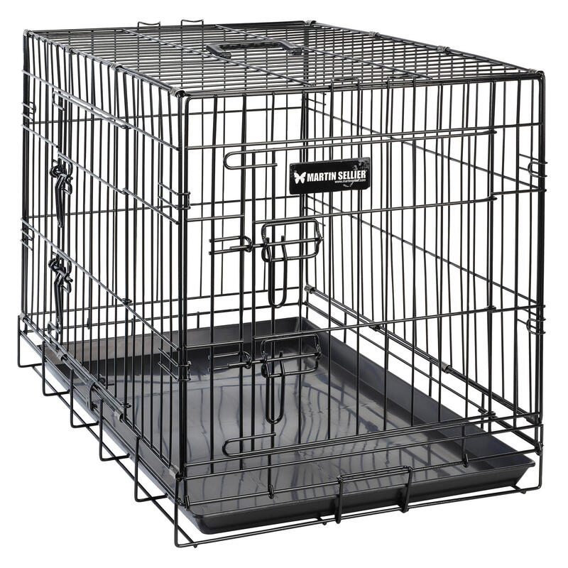 FOLD-DOWN MESH TRANSPORT CRATE FOR 1 DOG