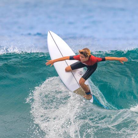 Kid's Surfing Neoprene Shorty 900 1.5 mm - Black Red