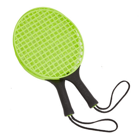 Speedball Set Turnball (1 post, 2 rackets, and 1 ball) - Black/Yellow
