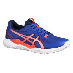 Calçado de Badminton, Squash, Desportos Indoor GEL-TACTIC DIGITAL GRAPE/WHITE