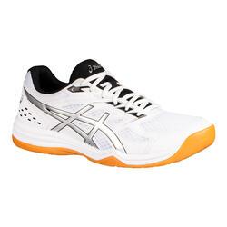 Schoenen voor badminton, squash en zaalsporten Upcourt 4 wit/zilver
