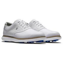 Chaussures de golf imperméables pour homme FJ Tradition blanches