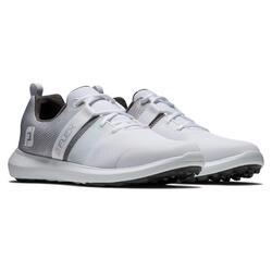 Chaussures de golf pour homme FJ Flex blanches et grises