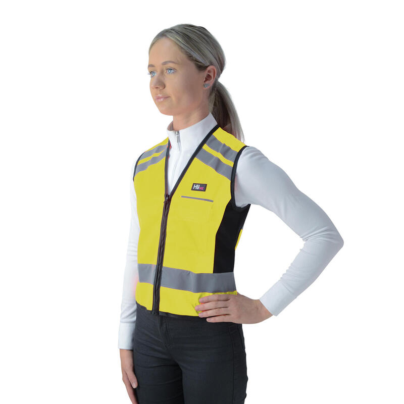 HyVIZ Waistcoat Please Pass Wide & Slow Yellow