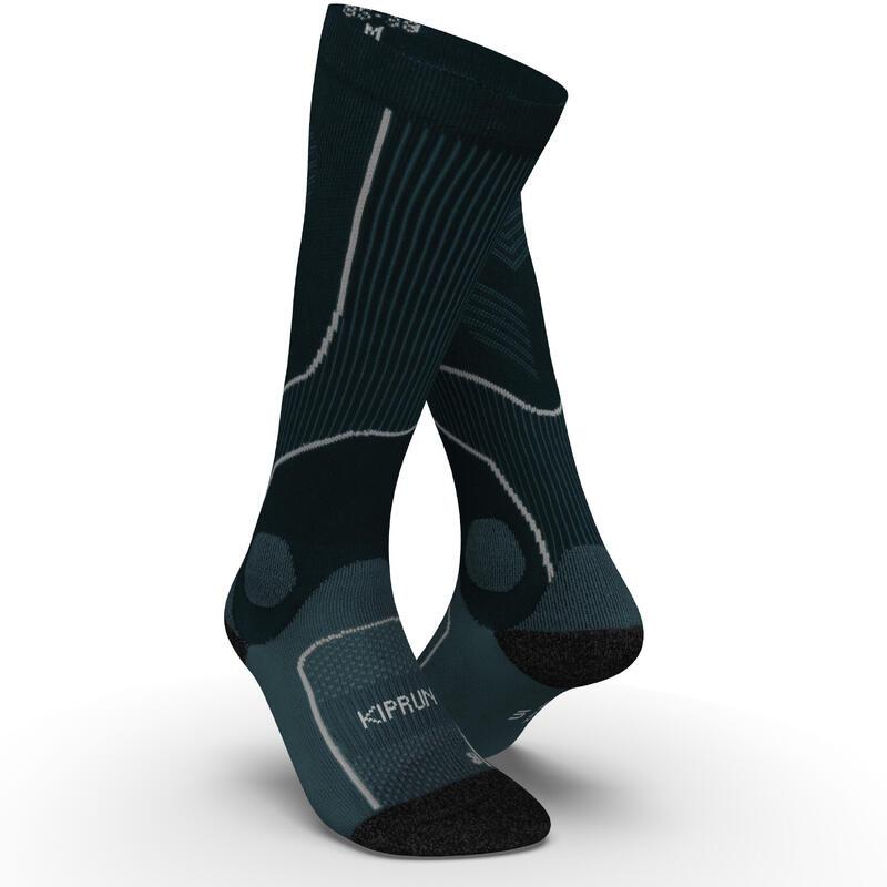 Calcetines Compresión Running RUN900 Azul Pizarra