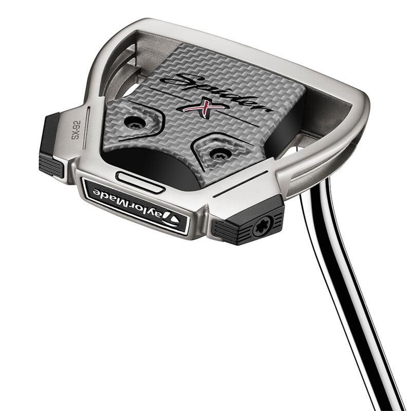 """Putter Golf Taylormade Spiderx Hydroblast 34"""" Diestro Cara Balanced"""