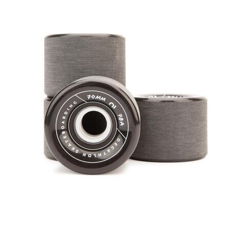 "Ratukai ilgalentei arba ""Cruiser"" tipo riedlentei, 70 mm, 78A, 4 vnt., juodi"
