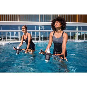 Maillot de bain 1 pièce shorty Aquafitness femme Elea Bul noir gris
