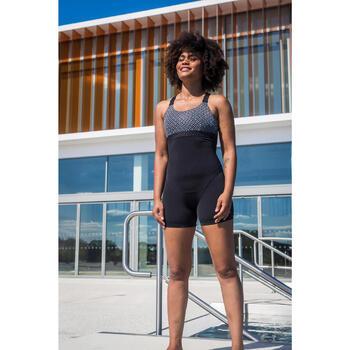 Badeanzug Shorty Elea Bul Aquafitness Damen schwarz/grau