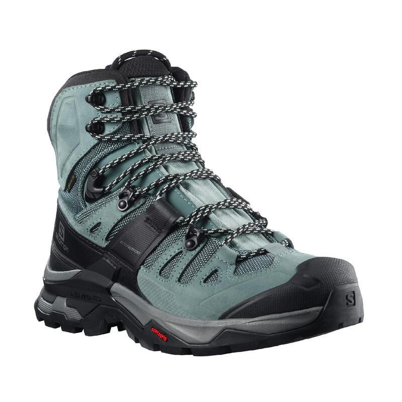 Chaussures imperméables de trek - GORE TEX - SALOMON QUEST 4 GTX gris - femme
