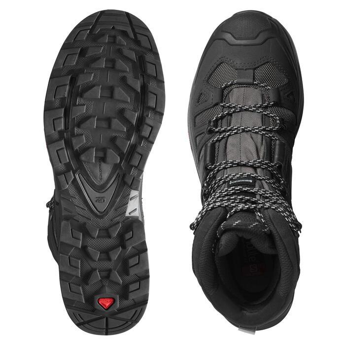 Chaussures imperméables de trek - GORE TEX - SALOMON QUEST 4 GTX noire - Homme