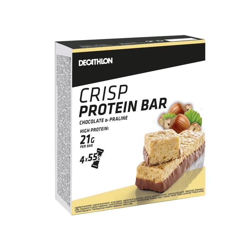 PROTEINY / DOPLŇKY STRAVY Proteiny a gainery - TYČINKA CRISP PRALINKA 4 KS DOMYOS - Proteiny a gainery