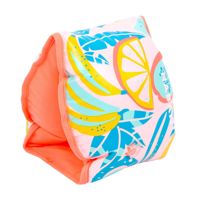 "Adult Swimming Pool Armbands ""FRUITS"" print > 60 kg - Pink"