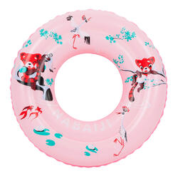 "Kids' Inflatable Swim Ring 3-6 Years 51 cm - Pink ""Red Panda"" Print"