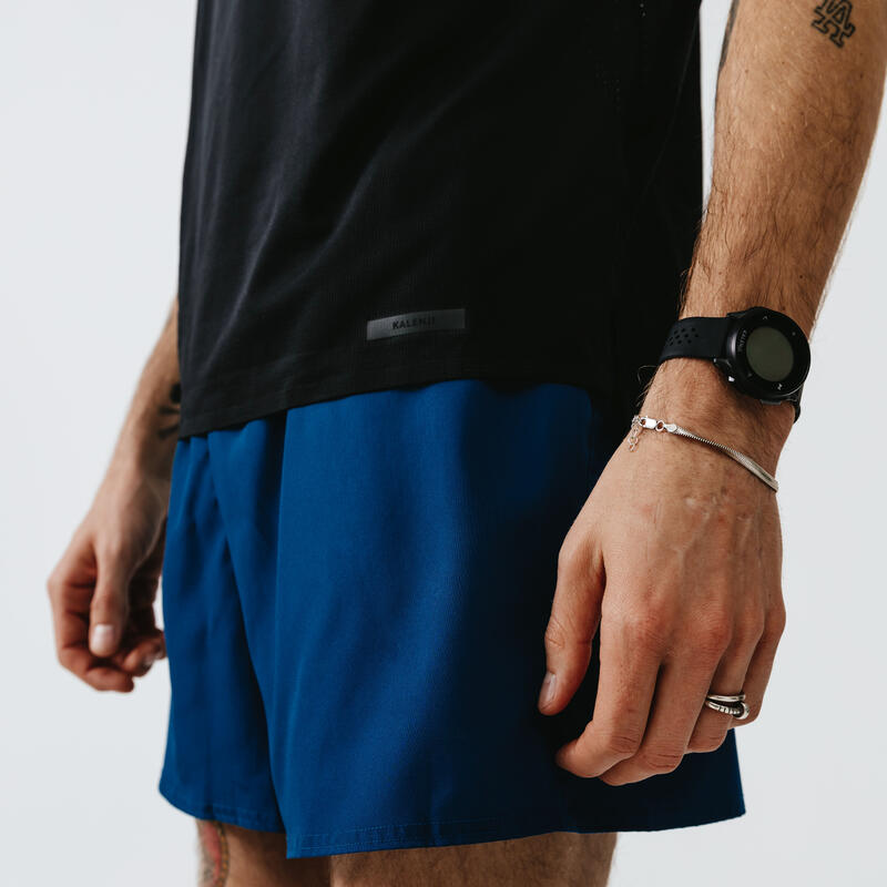 Men's Running Breathable T-Shirt Kalenji Dry+ Breath - black