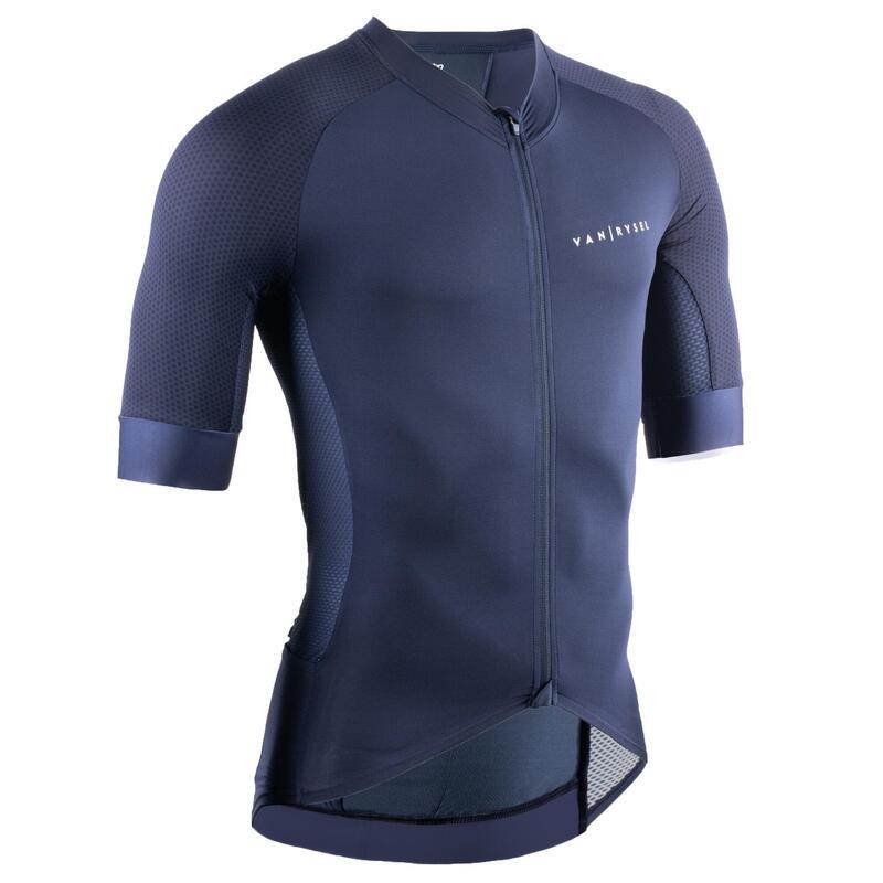 Maillot Ciclismo MANGA CORTA HOMBRE VAN RYSEL RACER azul marino