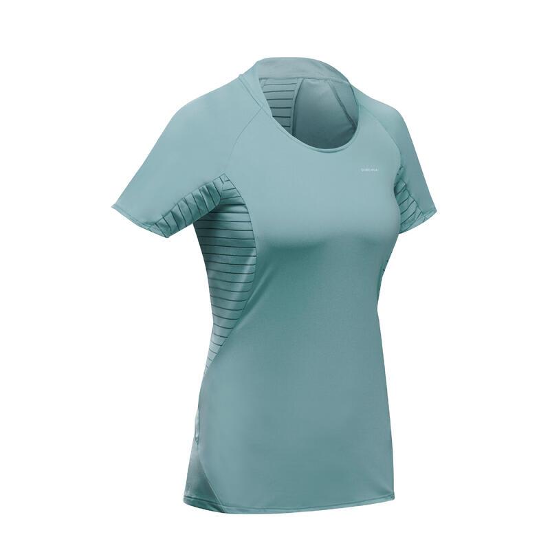 Camiseta de manga corta de senderismo en montaña - MH500 - mujer