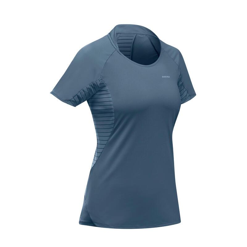T-shirt montagna donna MH 500 azzurro grigia