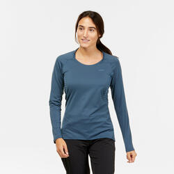T-shirt manches longues de randonnée montagne - MH550 - Femme