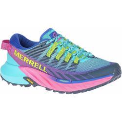 Merrel Agility Peak 4 Women's Trail Running Shoes - blue pink