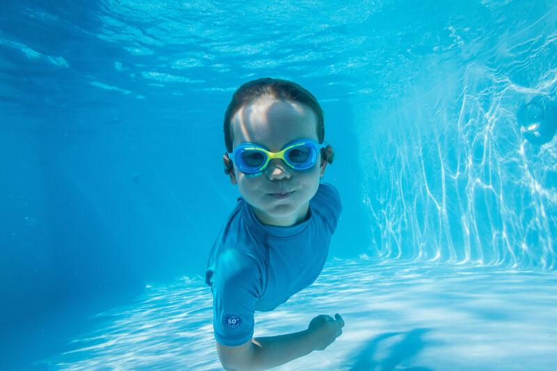 Kids' Swimming Goggles XBASE 100 - Blue Yellow