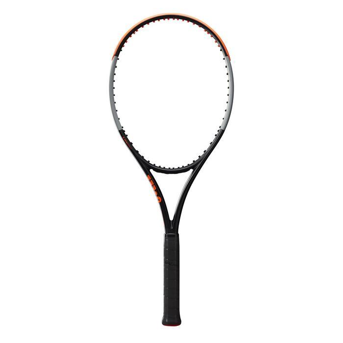 Raquette de tennis adulte Burn 100LS V4.0 Noire Grise Orange